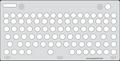 Keyguard for the Adesso SlimTouch Mini Trackball Keyboard