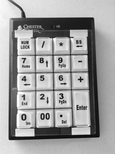 Chester Creek Numeric Keypad Keyguard (#577)