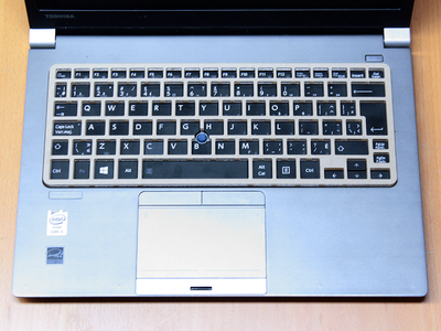 Keyguard on the Toshiba Portege Z30-A laptop.