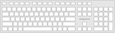 Keyguard for the Dell KB216 Multimedia Keyboard