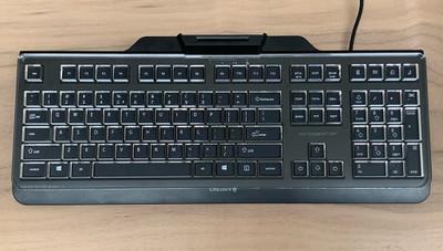 Keyguard on the Cherry Secure Board 1.0
