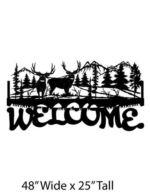Welcome Sign Buck Scene (WS-7)