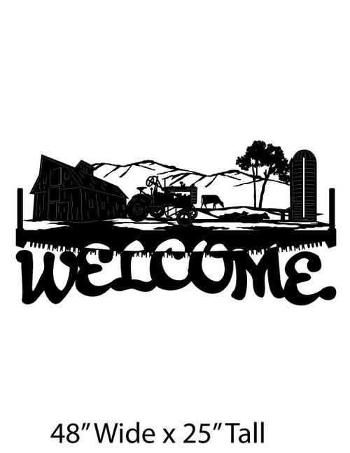 Welcome Sign Farm Scene (WS-8)