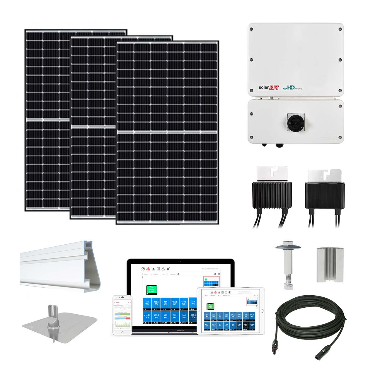 8kw Solar Kit Canadian 320 Solaredge Hd Inverter