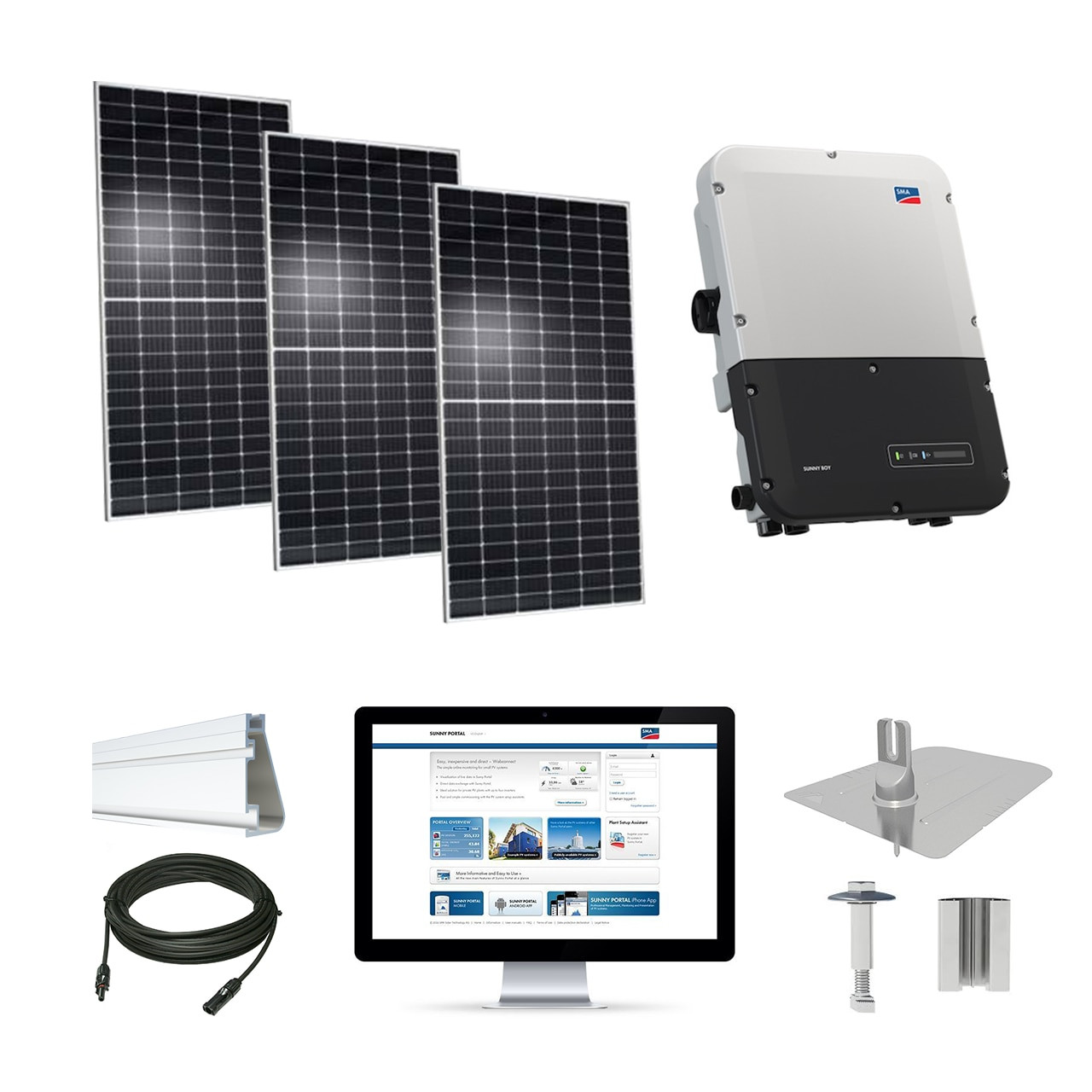 10kw Solar Kit Axitec 400 Xl Sma Sunny Boy Inverter Ac 400mh 144s