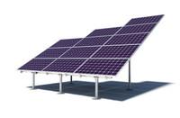 Solar panel ground mount IronRidge