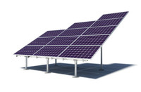 Solar panel ground mount IronRidge