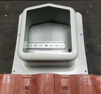SolaDeck tile rooftop enclosure flashing