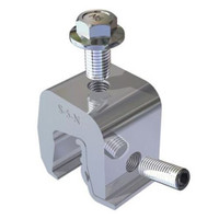 """Metal roof mini clamp S-5-N-1.0 for 1"""" nail strip roof profiles"""