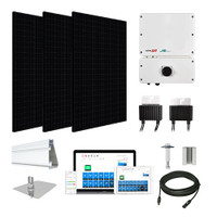 3.3kW solar kit Silfab 330 black, SolarEdge HD optimizers