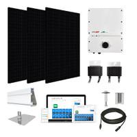 6.6kW solar kit Silfab 330 black, SolarEdge HD optimizers