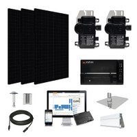 1.3kW solar kit Silfab 330 black, Enphase Micro-inverter