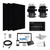 4.6kW solar kit Silfab 330 black, Enphase Micro-inverter