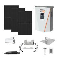 6.1kW solar kit REC 360 XL, Generac hybrid inverter