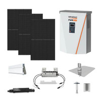 Canadian 400 Black Generac hybrid inverter Solar Kit