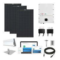 Mission MSE345 black SolarEdge HD optimizers Solar Kit