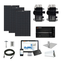 Mission MSE345 black Enphase Micro-inverter Solar Kit