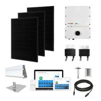 Solaria 400 Black SolarEdge HD optimizers Solar Kit