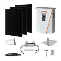 Solaria 400 Black Generac hybrid inverter Solar Kit