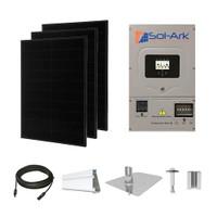 Solaria 400 Black Sol-Ark hybrid inverter Solar Kit