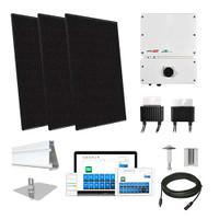 Silfab SIL370 black SolarEdge HD optimizers Solar Kit