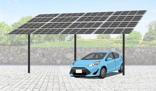 Solar carport mount 16 panels