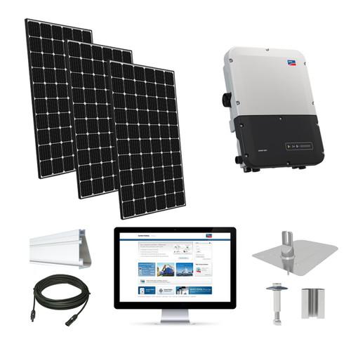 6.3kW solar kit LG 370, SMA inverter