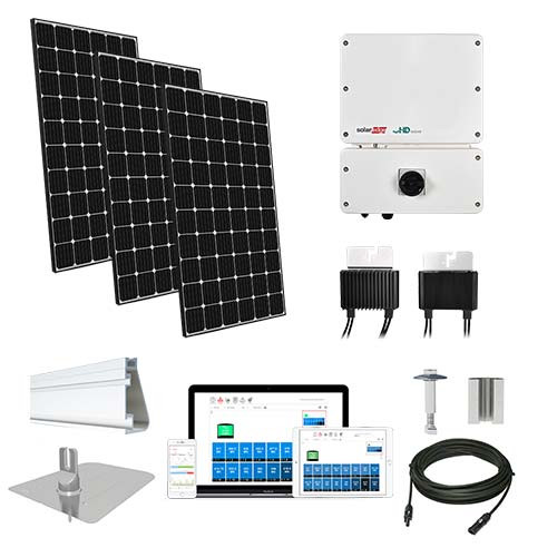 5.2kW solar kit LG 370, SolarEdge HD optimizers