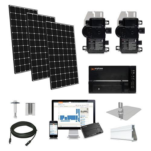 4.4kW solar kit LG 370, Enphase micro-inverters