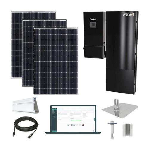 4kW solar kit Panasonic 330, EverVolt Hybrid inverter