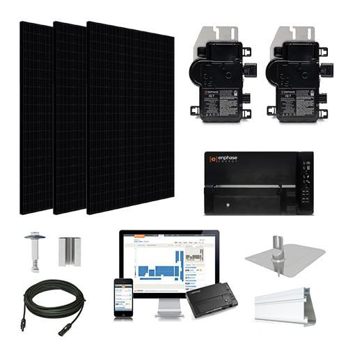 5.3kW solar kit Silfab 330 black, Enphase Micro-inverter