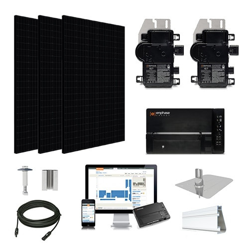6.6kW solar kit Silfab 330 black, Enphase Micro-inverter