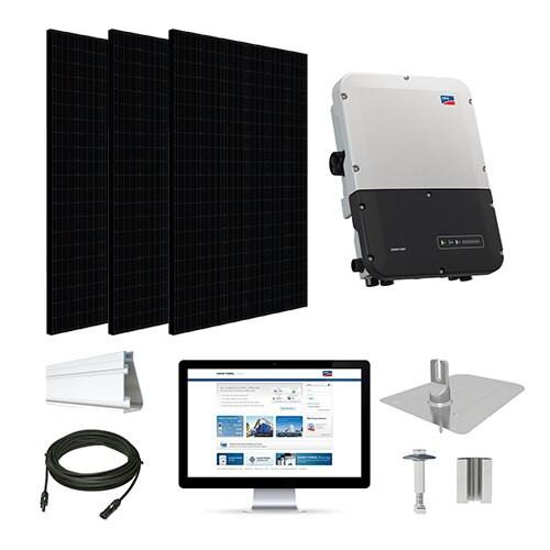 3.3kW solar kit Silfab 330 black, SMA inverter