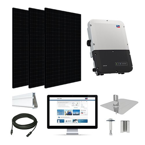 7.2kW solar kit Silfab 330 black, SMA inverter