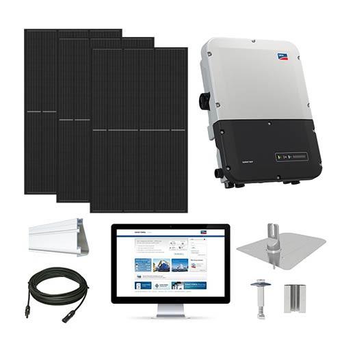 7.6kW solar kit Q.Cells 380 XL, SMA inverter