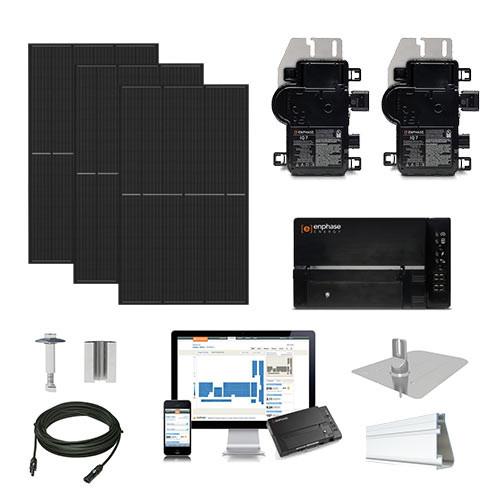 4.3kW solar kit REC 360 XL, Enphase Micro-inverter