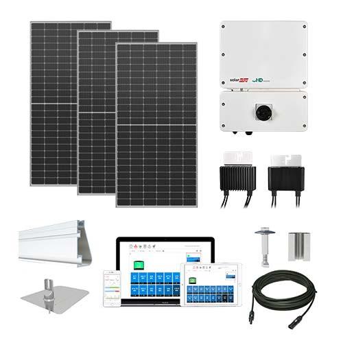 7.3kW solar kit Axitec 410 XL, SolarEdge HD optimizers