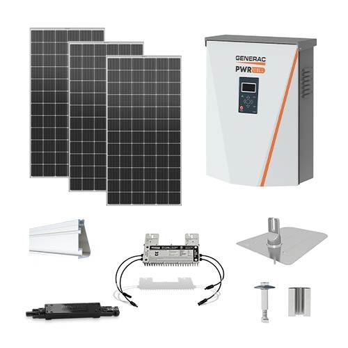 5kW solar kit Mission 420 XL, Generac hybrid inverter