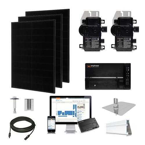 Solaria 400 Black Enphase Micro-inverter Solar Kit