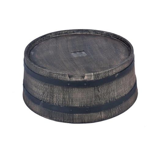350 Litre Extra Large Garden Water Butt Stand in Oak Barrel Wood Effect