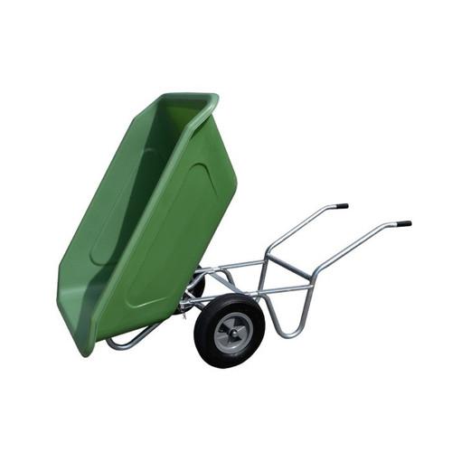 350 Litre MPK Roto Twin Wheel Tipping Wheelbarrow in Green
