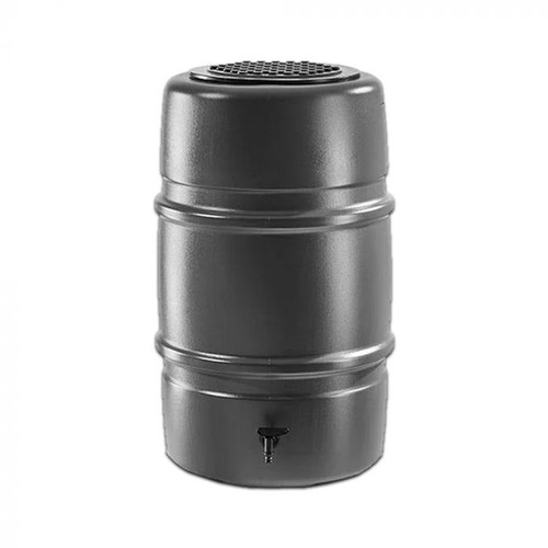 Harcostar 227 litre water butt in grey with tap