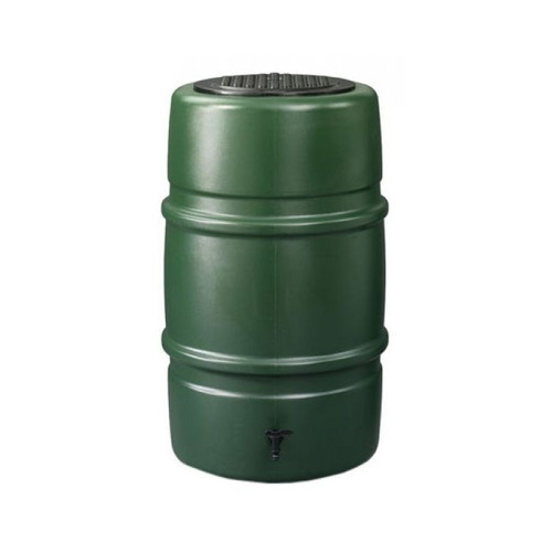 Harcostar 227 litre water butt in green. Includes tap