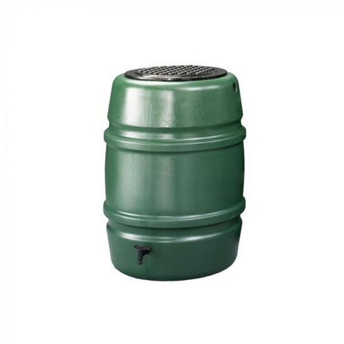 Harcostar 168 litre water butt in green. Includes child safety lid and tap