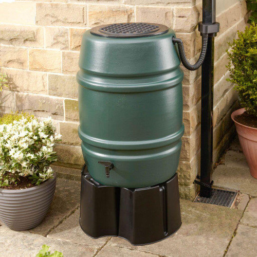 Harcostar 168 litre water butt, stand, rain trap and Diverter