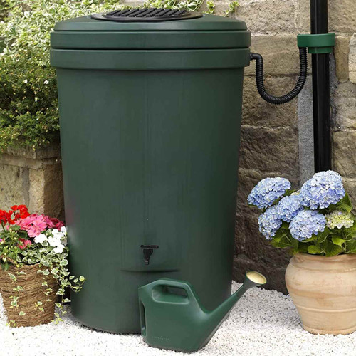 Harcostar Large Magnum Water Butt 350 litre with tap in green