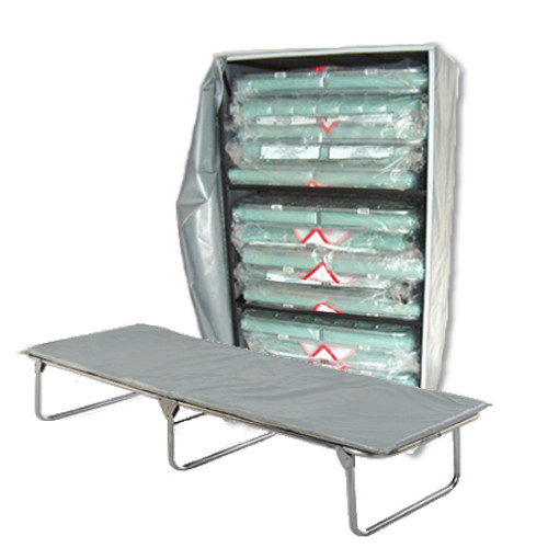 Extra Wide Cots (15) with Cart image