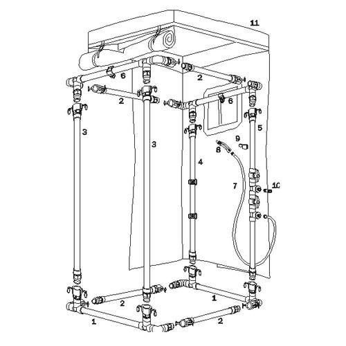 Standard Decon Shower Parts Ordering image