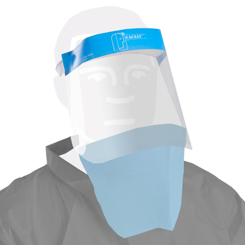 Disposable Face Shield with Protective Drape image