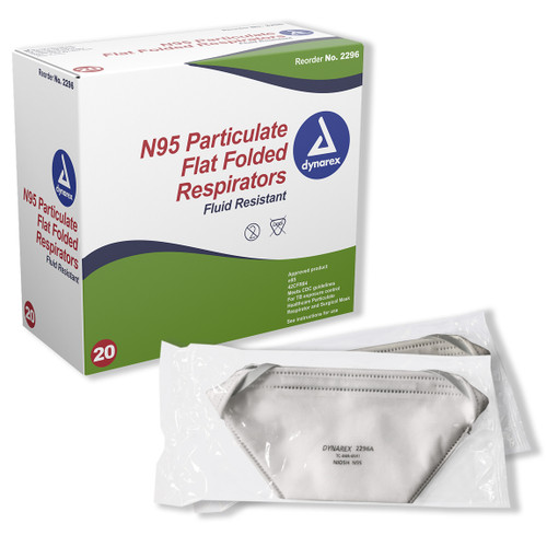 Dynarex Surgical N95 Flat Fold Respirator image